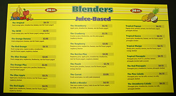 Blenders full color menu