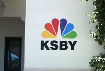 ksby painted sign