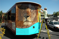 Zoo ad on trolley